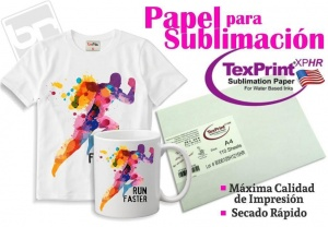 Papel Sublimación A4 p/ EPSON. TEXPRINT. USA.