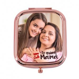 Espejo Metal Dorado Rosa Cuadrado *arribo 14/10
