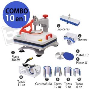 Prensa Térmica Combo 10 en 1 (BLANCA)